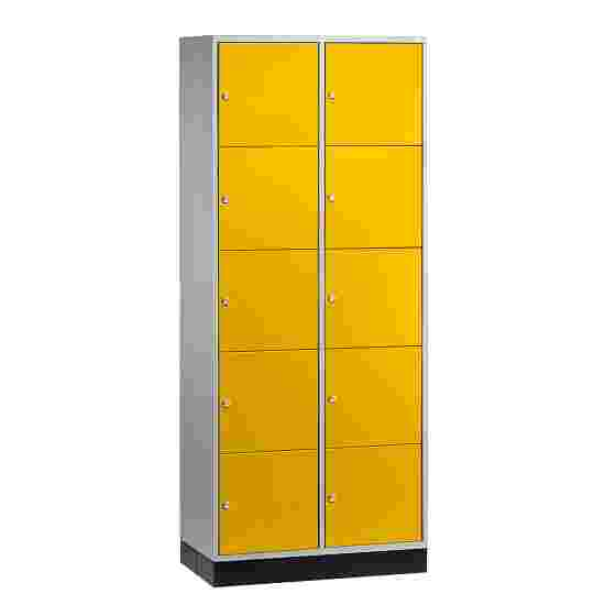 """""""S 4000 Intro"""" Compartment Locker (5 compartments on top of one another) 195x62x49cm/ 10 compartments, Sunny Yellow (RDS 080 80 60)"""