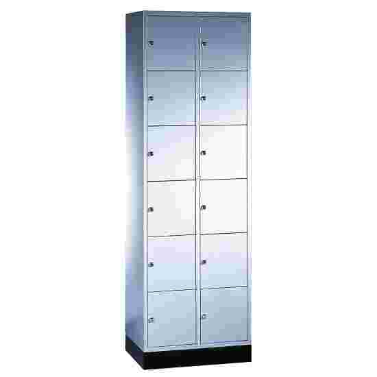 """S 4000 Intro"" Compartment Locker (6 compartments on top of one another) 195x62x49cm/ 12 compartments, Light grey (RAL 7035)"