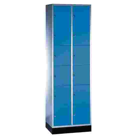 """S 4000 Intro"" Compartment Locker (6 compartments on top of one another) 195x62x49cm/ 12 compartments, Gentian blue (RAL 5010)"