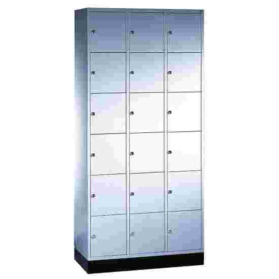 """S 4000 Intro"" Compartment Locker (6 compartments on top of one another) 195x92x49cm/ 18 compartments, Light grey (RAL 7035)"