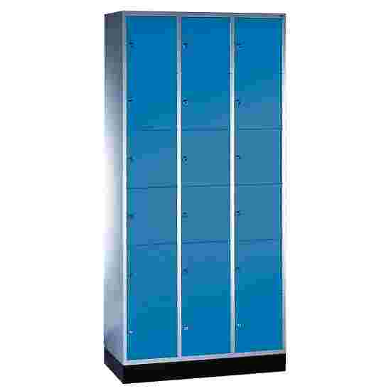 """S 4000 Intro"" Compartment Locker (6 compartments on top of one another) 195x92x49cm/ 18 compartments, Gentian blue (RAL 5010)"