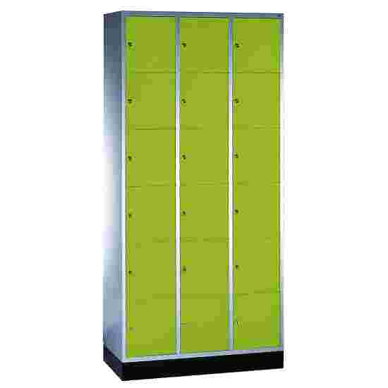 """S 4000 Intro"" Compartment Locker (6 compartments on top of one another) 195x92x49cm/ 18 compartments, Viridian green (RDS 110 80 60)"