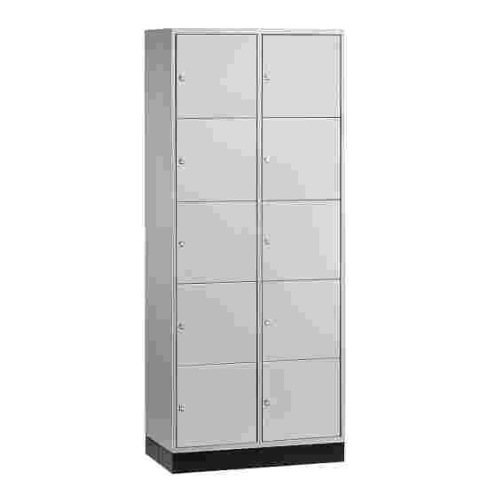 """""""S 4000 Intro"""" Large Capacity Compartment Locker (5 compartments on top of one another) 195x85x49 cm/ 10 compartments, Light grey (RAL 7035)"""