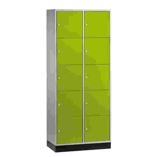 """""""S 4000 Intro"""" Large Capacity Compartment Locker (5 compartments on top of one another) 195x85x49 cm/ 10 compartments, Viridian green (RDS 110 80 60)"""