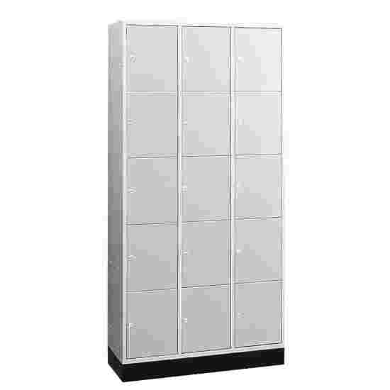 """""""S 4000 Intro"""" Large Capacity Compartment Locker (5 compartments on top of one another) 195x122x49 cm/ 15 compartments, Light grey (RAL 7035)"""