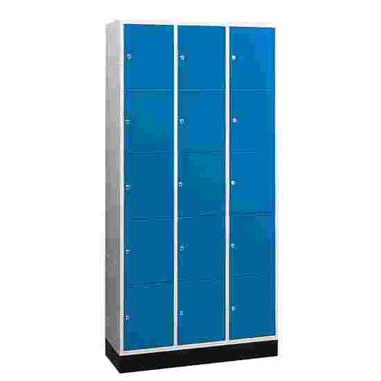 """""""S 4000 Intro"""" Large Capacity Compartment Locker (5 compartments on top of one another) 195x122x49 cm/ 15 compartments, Gentian blue (RAL 5010)"""