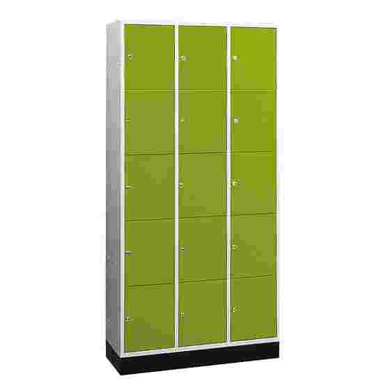 """""""S 4000 Intro"""" Large Capacity Compartment Locker (5 compartments on top of one another) 195x122x49 cm/ 15 compartments, Viridian green (RDS 110 80 60)"""