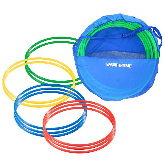Set of ø 80 cm Gymnastic Hoops with Storage Bag Multicoloured