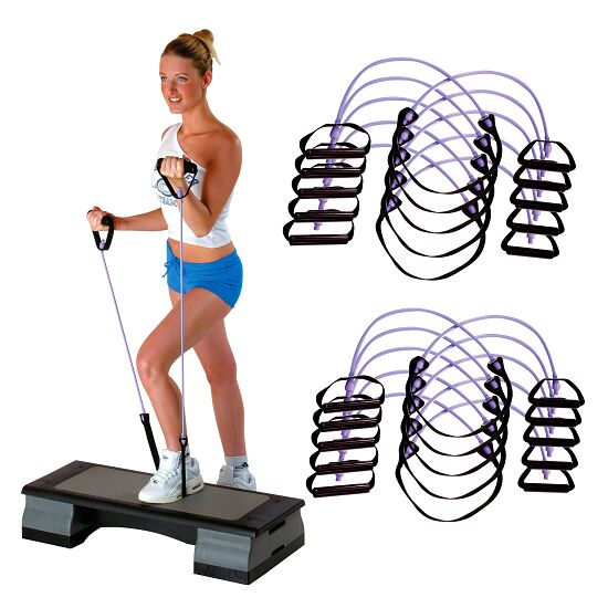 Set of 10 Sport-Thieme® Fitness Step Tubes Purple = high