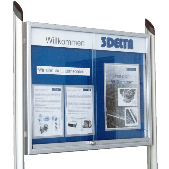 Set of Stands for Display Boards with Sliding Doors