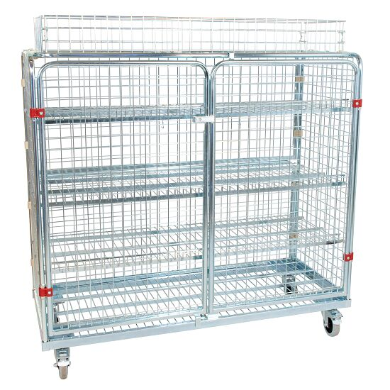 Shelved Trolley Incl. additional railing, 150x140x62 cm