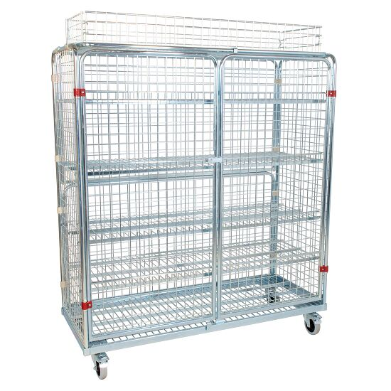 Shelved Trolley Incl. additional railing, 150x170x62 cm