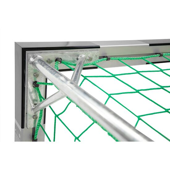 Sport-Thieme 3x2m, Free-Standing, with patented corner joints Handball Goal With fixed net brackets, Black/silver