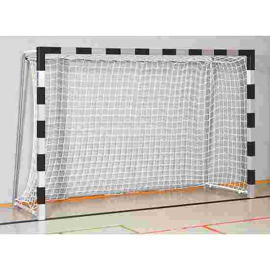 Sport-Thieme 3x2 m, stands in ground sockets, with folding net brackets Handball Goal Welded corner joints, Black/silver