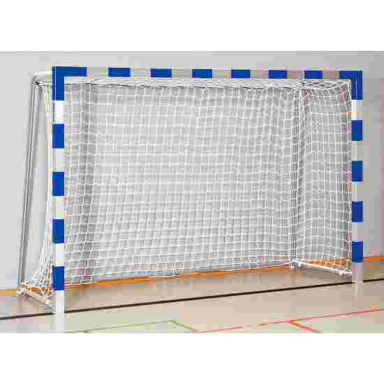 Sport-Thieme 3x2 m, stands in ground sockets, with folding net brackets Handball Goal Welded corner joints, Blue/silver