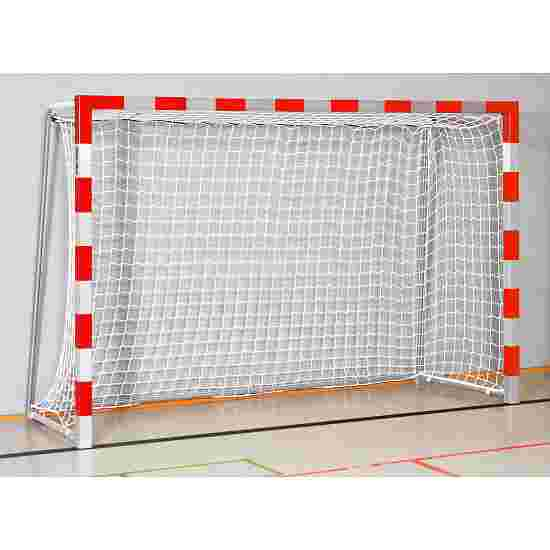 Sport-Thieme 3x2m, stands in ground sockets, with folding net brackets Indoor Handball Goal Welded corner joints, Red/silver