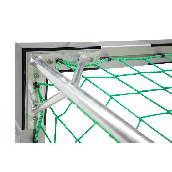 Sport-Thieme 3x2 m, in ground sockets, with patented corner joints Indoor Football With fixed net brackets, Black/silver