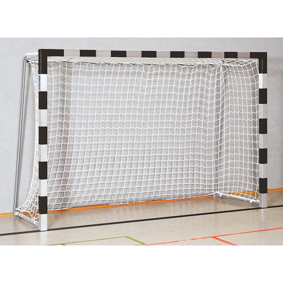 Sport-Thieme 3x2 m, standing in ground sockets Handball Goal Bolted corner joints, Black/silver