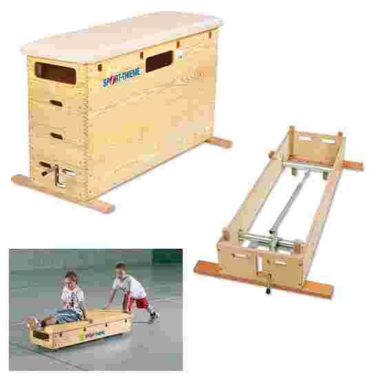 "Sport-Thieme 4-Part ""Original"" Vaulting Box With swivel castor kit and wheel kit"