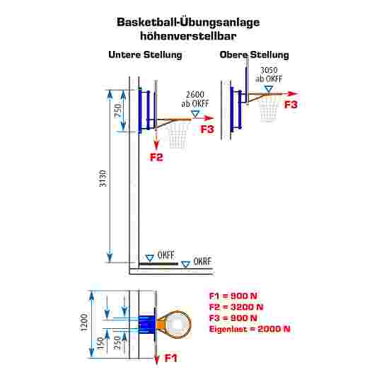 Sport-Thieme Basketball Practice Kit With height adjustment