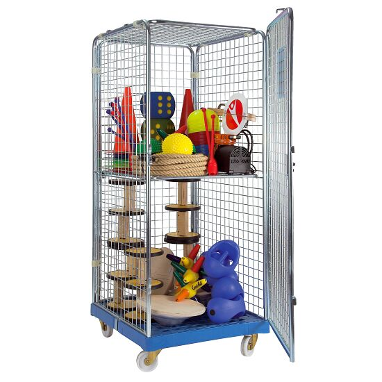 "Sport-Thieme ""Classic-Rollbox N°5"" Transport Trolley 1 door, With 1 collapsible shelf"