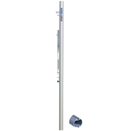 "Sport-Thieme® ""Competition"" Beach Volleyball Posts Anodised matt silver, Spindle tensioning mechanism, without ground sockets"