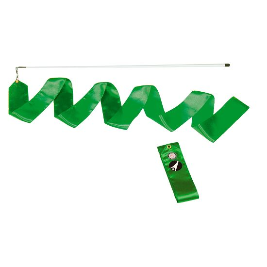 Sport-Thieme® Competition Gymnastics Ribbon, 4 m long, with rod Green