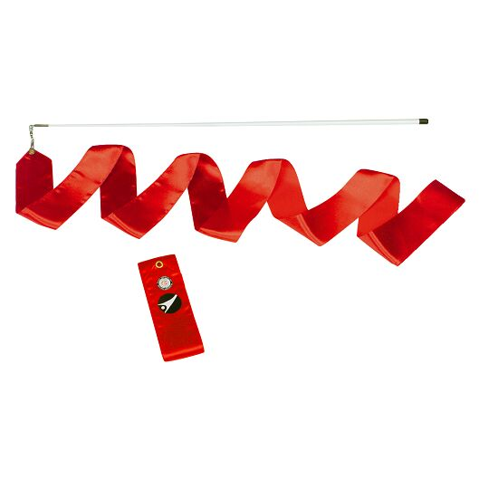 Sport-Thieme® Competition Gymnastics Ribbon, 4 m long, with rod Red