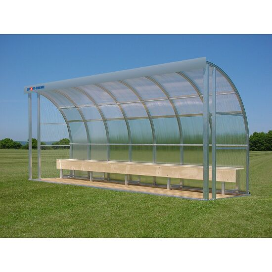 Sport-Thieme® Dugout for 10 People Bench, Polycarbonate