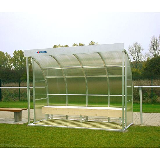 Sport-Thieme® Dugout for 6 People Glazing: polycarbonate, Bench