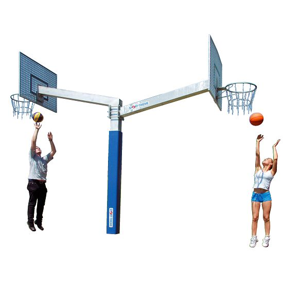 "Sport-Thieme® ""Fair Play Duo"" Basketball Unit ""Outdoor"" hoop, Backboard: aluminium"