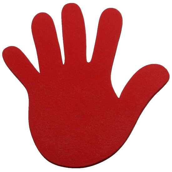 Sport-Thieme® Floor Markers Hand, 14.5 cm, Red