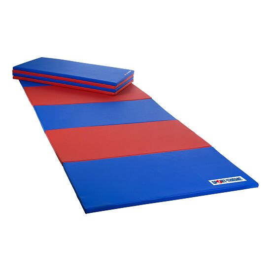 Sport-Thieme Folding Mat 240x120x3 cm, Blue/red