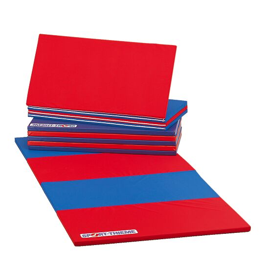 Sport-Thieme Folding Mat 360x120x3 cm, Blue/red