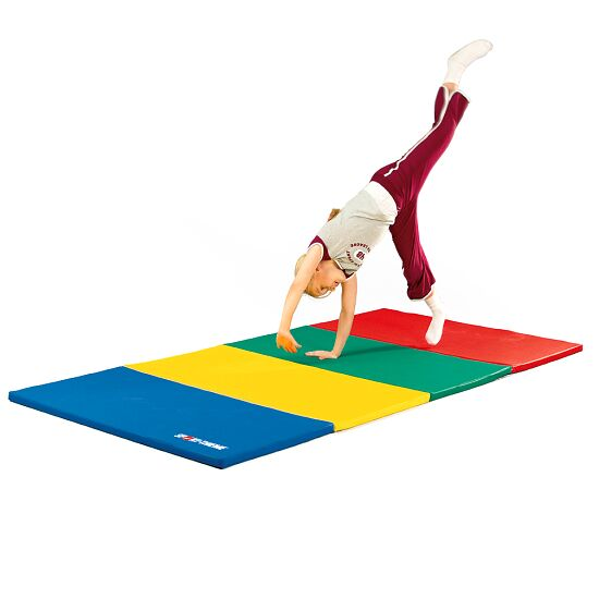 Sport-Thieme Folding Mat 240x120x3 cm, Blue-Yellow-Green-Red
