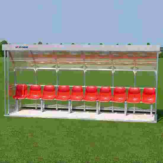 Sport-Thieme for 10 People Dugout Bench, Acrylic glass