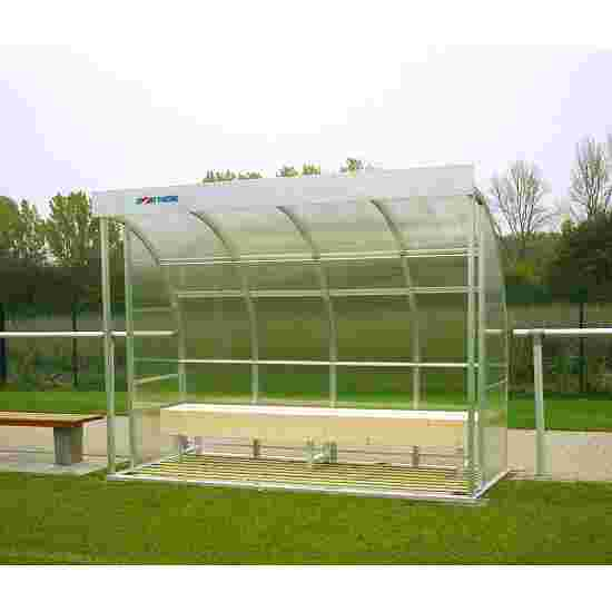 Sport-Thieme for 6 People Dugout Glazing: acrylic glass, Bench
