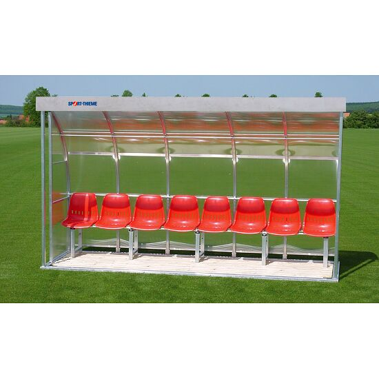Sport-Thieme for 8 People Dugout Glazing: polycarbonate, Seat
