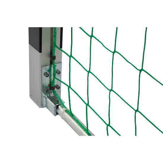 Sport-Thieme® Handball Goal 3x2m, stands in ground sockets Bolted corner joints, Black/silver