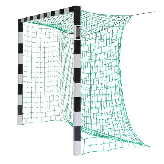 Sport-Thieme® Handball Goal, 3x2 m, in ground sockets Without net brackets, Black/silver