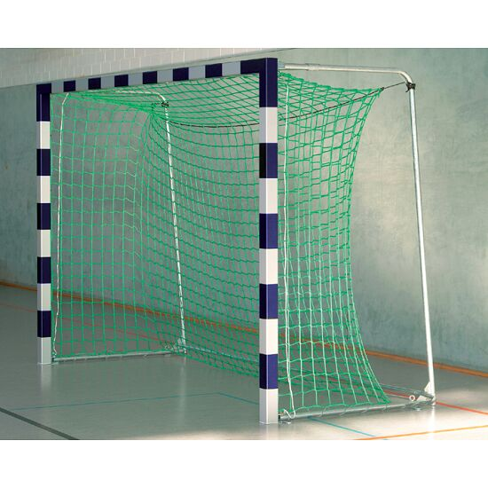 Sport-Thieme® Handball Goal, 3x2 m, in ground sockets With folding net brackets, Blue/silver