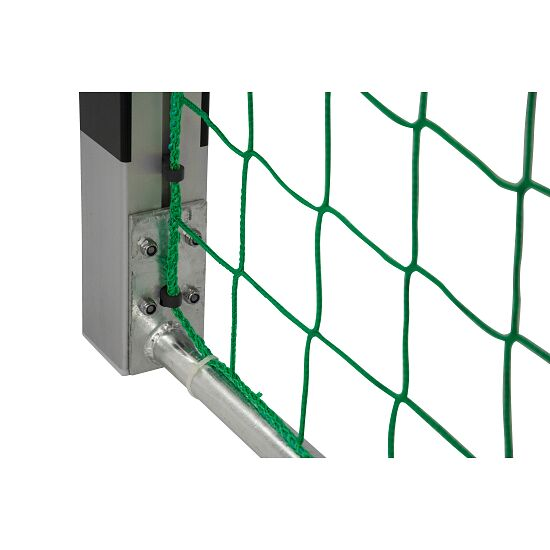 Sport-Thieme® Handball goal 3x2 m, standing in ground sockets Bolted corner joints, Black/silver