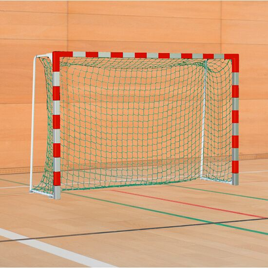 Sport-Thieme Handball Goal with Folding Net Brackets Standard, goal depth 1 m, Red/silver