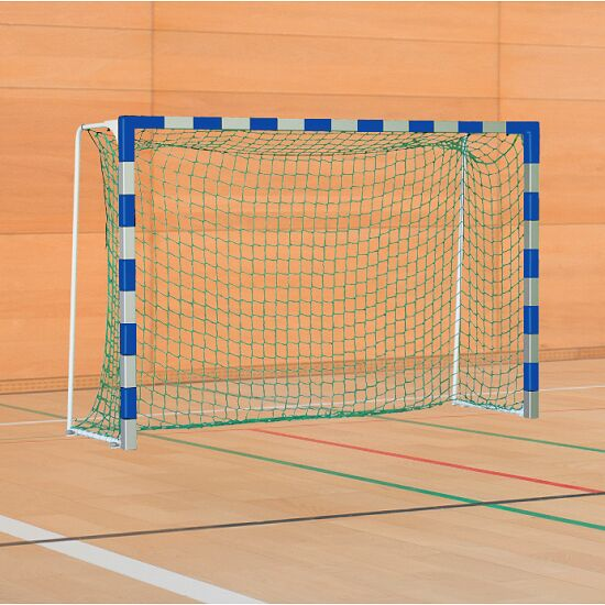 Sport-Thieme Handball Goal with Folding Net Brackets Standard, goal depth 1 m, Blue/silver