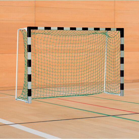 Sport-Thieme Handball Goal with Folding Net Brackets Standard, goal depth 1.25 m, Black/silver
