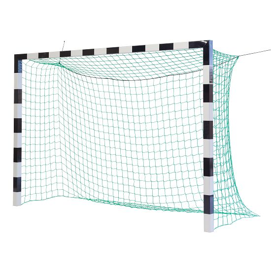 Sport-Thieme Indoor Football Goal, 3×2 m, in ground sockets, with premium-steel corner joints Without net brackets, Black/silver