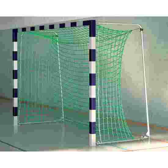 Sport-Thieme Indoor Football Goal, 3×2 m, in ground sockets, with premium-steel corner joints With folding net brackets, Blue/silver