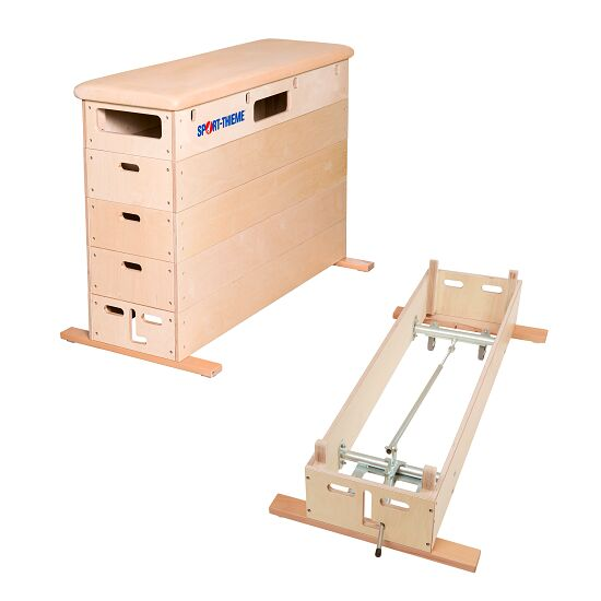 "Sport-Thieme ""Multiplex"" 5-Part Vaulting Box With swivel castor kit, Leather cover"