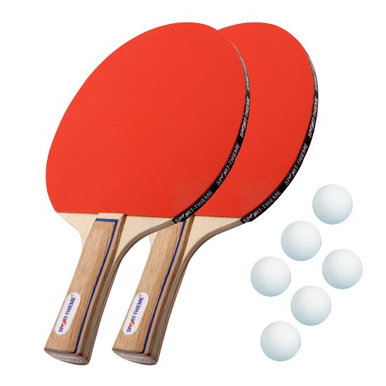 "Sport-Thieme® ""Paris"" Table Tennis Bat Set White balls"