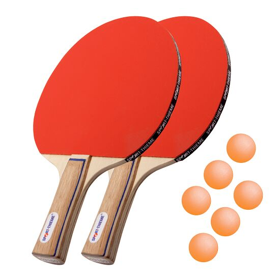 "Sport-Thieme® ""Paris"" Table Tennis Bat Set Orange balls"
